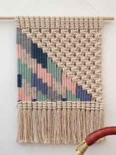 Woven macrame wall hanging by KateAndFeather on Etsy