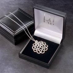 'Cupola' sterling silver necklace, by Ruth Mary Jewellery
