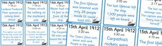 Titanic Timeline Cards http://displays.tpet.co.uk/#/viewPost/id853