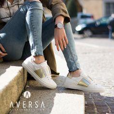 Kammi Sneakers elastico oro
