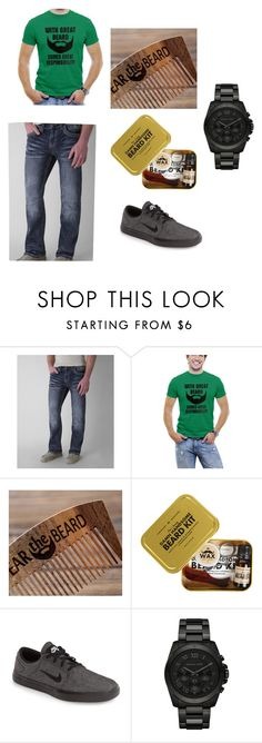 """""""ALL ABOUT THAT BEARD"""" by rmathews14 on Polyvore featuring Affliction, Men's Society, NIKE, Michael Kors, men's fashion and menswear"""