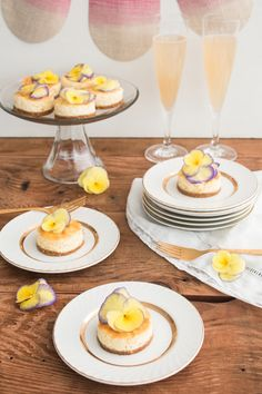 Ring in spring with these elegant Mini Mascarpone Lemon Cheesecakes made with Stevia In The Raw®. The homemade graham cracker crust is the perfect complement to the bright and zesty lemon filling. These individual, make-ahead treats will be a sweet addition to your Easter, Mother's Day, or Bridal Shower celebrations!