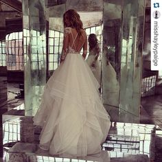Love the back of this Hayley Paige Elysia Gown.