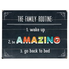 """Plank-style wood wall art with a multicolor typographic quote. Ready-to-hang with included sawtooth hanger.  Product: Wall art - 14"""" X 20"""" $50"""