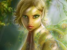 green eyed elves | Green-eyed Elf - glitter, green-eyed, glowing elf, eyes, lips ...