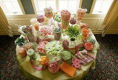 la decoración de  mesas: Ideas para una Comunión: Buffet de chuches