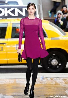 7143c63a0f DKNY Fall-Winter Fashion 2012-2013 very beauty and femininity Burgundy  Fashion