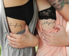 〰Friendship tattoos, so cute ❤