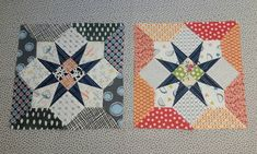 Delilah BOM month 7. 4 Patch Star blocks. Last two of four completed! Machine sewn except for the outer pieces which I found easier to add…