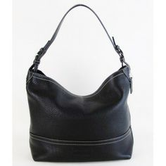 Coach Pebbled Leather Black Tote Bag $150