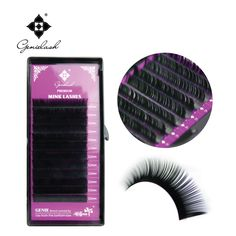 5 Cases 0.10 Thickness Eyelash Extension B Curl Individual Mink Artificial Fake False Eyelashes Free shipping