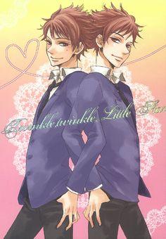 """Twinkle Twinkle Little Star"" yaoi doujinshi by Bliss / Shikisensai (Kisaragi Manami), Hikaru + Kaoru, Ouran Host Club"