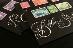 Day-Of Wedding Stationery Inspiration and Ideas: White on Black via Oh So Beautiful Paper (4)