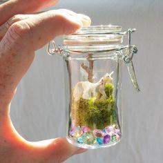 Whimsical Ways: Mini DIY Unicorn Terrarium