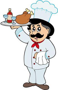 Koch bei der arbeit clipart  kochen-clipart-10.jpg (138×240) | Kinder Koch Küche Applikationen ...