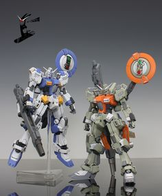 I like seeing the custom paint jobs that Gunpla fans give their models. Maybe I can do one of my own someday. Artist unknown.