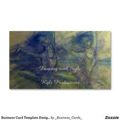 "Business Card Template Design-""Dance and Ballet"""