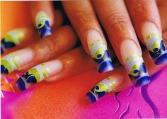 Photos of Beautiful Acrylic Nails | ... Beautiful acrylic nail enhancements with pretty green and blue nail