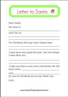 Letters To Santa Templates  Santa Letter Template  Christmas Fun