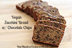 Easy Zucchini Recipes – Vegan Zucchini Bread with Chocolate Chips