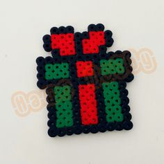 Christmas ornament hama perler beads by Love Cupcoonka -  www.facebook.com/hamabeadshobby