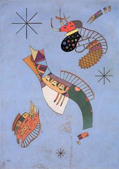 The Athenaeum - Three Stars (Wassily Kandinsky - )