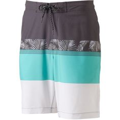 Men's SONOMA Goods for Life™ Colorblock Swim Trunks (£19) ❤ liked on Polyvore featuring men's fashion, men's clothing, men's swimwear, green oth, mens swimwear, men's apparel, mens clothing, mens swim trunks and mens swimshorts