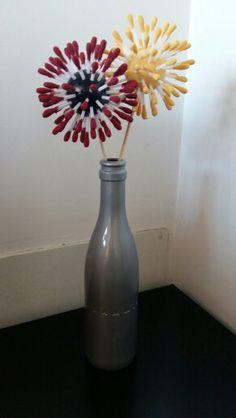 Decoració ampolla de vidre