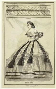 Evening dress/hair/jewelry- 1865