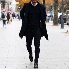 Skinny Jeans For Men Black Streetwear Hip Hop Stretch Jeans Hombre Sli – mysho. Hip Hop, All Black Fashion, Winter Fashion, Streetwear, Herren Outfit, Mens Clothing Styles, Apparel Clothing, Stylish Men, Stretch Jeans