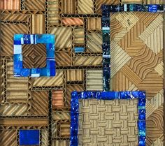 Blue Moon - Detail | Corrugated Mosaic Art | Luci Lytle
