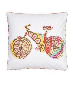 Casablanca Bicycle Pillow #zulily #zulilyfinds