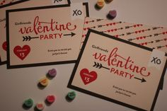 These custom Galentine's Day invitations from Tiny Prints were a great touch to a girlfriends get together on Valentine's Day.