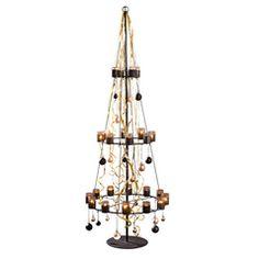 Weihnachtsbaum metall teelichter