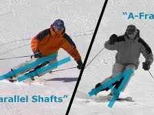 Ski technique: how to banish the A-frame