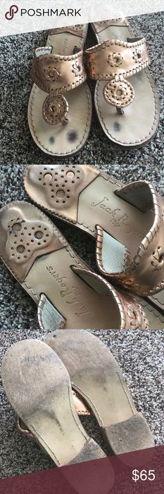 Copper/Rose Gold Jack Rogers Lovingly worn classic Jack Rogers. Pictures of the wear and tear shown, but they still look amazing on! Jack Rogers Shoes Sandals