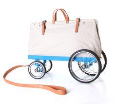 Cute little bike wagon, I want to tow my beach stuff in it!