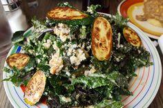 King Kale Salad from Bragg's Factory Diner, Phoenix AZ #vegan #phoenix #kale #Arizona #salad