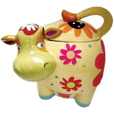 Amazon.com: Westland Giftware Cozy Cow Ceramic Cookie Jar, 10.25-Inch: Kitchen & Dining