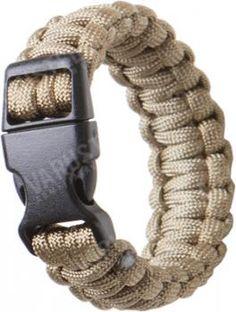 Mil-tec Paracord-ranneke, 22 mm, kojootinruskea