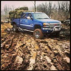 Finally a cool truck in the mud. And working like a truck.
