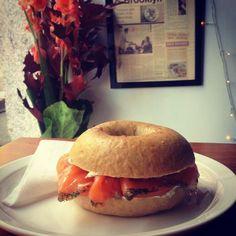 Brooklyn Cafe - Salmon, Tomato, and Chive Cream Cheese Original Recipe, Bagel, Salmon, Brooklyn, Cheese, Cream, Recipes, Food, Creme Caramel