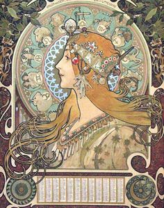 Art: Alfons Mucha ~Zodiac 1896~