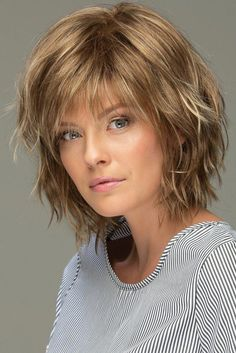 Messy Look Women's Shoulder Length Style Features Choppy Layers Wavy Human Hair Wigs Lace Front Wigs Short Thin Hair, Short Hairstyles For Thick Hair, Short Hair With Layers, Layered Hair, Short Hair Cuts, Wig Hairstyles, Choppy Layers, Long Hair, Fashion Hairstyles