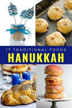 17 Delicious things to eat for the festival of lights. Hanukkah food you cannot miss including challah, latkes, kugel, braised brisket, tzimmes, rugelach, cholent, holishkes, dreidel cookies, Hanukkah short ribs, gefiltefish, knishes, blintzes, matzoh ball soup. #Hanukkah #holidays #festivaloflights Braised Brisket, Hanukkah Food, Magic Recipe, Challah, Festival Lights, Short Ribs, Original Recipe, Bacon, Soup