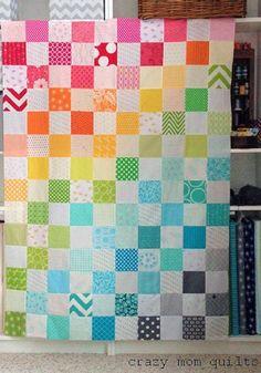 rainbow quilt top
