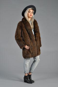 1980s Draped Lynx Fur Coat   BUSTOWN MODERN   Vintage Outerwear ...