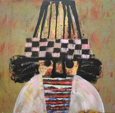Raouf Rifai, 'Darwish 8', acrylic on canvas, 50 cm x 50 cm