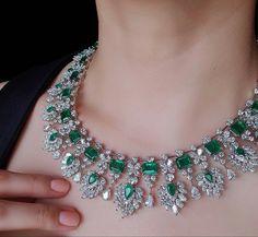 Real Diamond Necklace, Emerald Necklace, Emerald Jewelry, Dimond Necklace, Diamond Jewellery, Rhinestone Necklace, Diamond Pendant, Pendant Necklace, Royal Jewelry