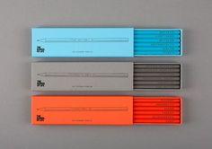 鉛筆のパッケージ。シンプルなデザインがおしゃれ。(via The School of Life)